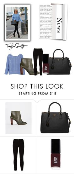 """""""Get the Taylor Swift look"""" by rose0810-1 ❤ liked on Polyvore featuring Ann Taylor, Prada, Frame and JINsoon"""