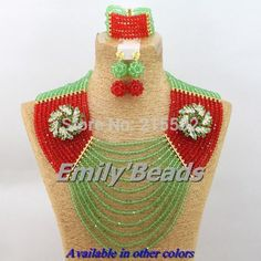Find More Jewelry Sets Information about Green African Beads Jewelry Sets Nigerian Wedding Bridal Necklace Bracelet Earrings Jewelry Sets 12 Layers Free Shipping AES659,High Quality necklace board,China necklace watch Suppliers, Cheap necklace triangle from Emily's Jewelry DIY Store on Aliexpress.com