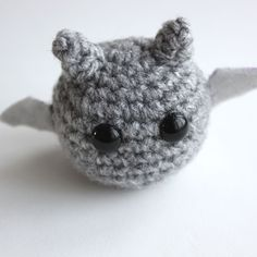 Amigurumi Grey Bat.