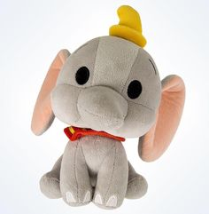 """disney parks dumbo the flying elephant cute bobble plush Head will bobble when you shake the doll appr. 7"""" new with tags"""