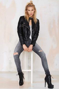 Nasty Gal Ride Out Vegan Leather Moto Jacket