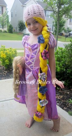 Crochet Dresses Patterns Brookey Belles Bows — Rapunzel Crochet Dress Up Beanie - What little girl wouldn't love to dress up as Rapunzel with her gorgeous long hair? Inspired by Disney's Tangled and the. Crochet Bodycon Dresses, Black Crochet Dress, Prom Dress Shopping, Online Dress Shopping, Tight Dresses, Cute Dresses, Crochet Princess, Senior Prom Dresses, Crochet Hair Styles