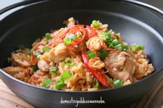 Claypot Rice in Rice Cooker by the Domestic Goddess