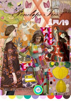 Penelope Tree AW/19 - Mirella Bruno Print Pattern and Trend Designs. trends, Fashion, Interior, Color, Design, Kids, Pattern, Print, Summer, 2020, moodboard, ideas, ss19, 2019, spring, autumn, Winter, 2018, Insight, Floral, Accessories, Fashion Show, Beauty, board, Layout, Inspiration, Ss18, Mood Boards, Spring Summer, Color Patterns, Colour Palettes, Style #colorpatterns #colourpalettes #print #pattern #trends #2019 #2018 #design #moodboards