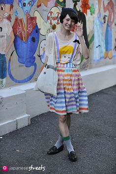 Very cute and quirky.    Japanese street fashion in Harajuku, Tokyo (Matilde, IamI)