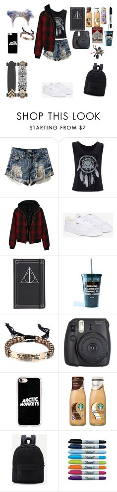 """Sin título #124"" by b14nc3 ❤ liked on Polyvore featuring R13, Puma, Jac Vanek, Casetify and Sharpie"