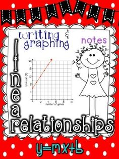Writing and Graphing Linear Equations- Introduction Notes Algebra Equations, 7th Grade Math, Note Taking, Word Problems, A Table, Middle School, Students, Notes, Relationship