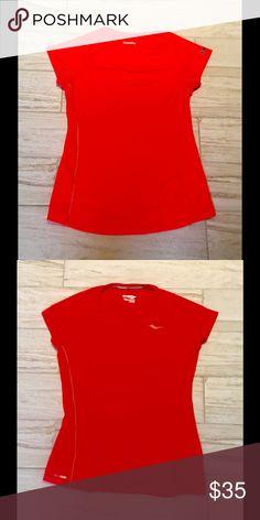 NWOT Saucony Running Shirt w/ Reflective Seams So cute and So Saucony!!! Well made Running Shirt in a Vibrant Color with Reflective Seams!! Saucony Tops