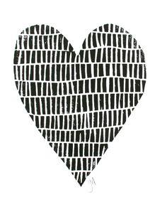minimal black heart