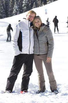 HRH Crown Prince Willem-Alexander and Crown Princess Maxima on holiday in Austria 18/02/13