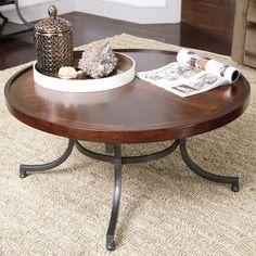 Have to have it. Hammary Barrow Round Cocktail Table - Mahogany - $315 @hayneedle