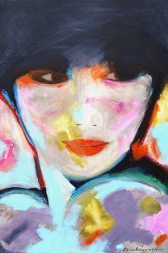 """Saatchi Art Artist Ingeborg Herckenrath; Painting, """"Flow"""" #art #portret"""