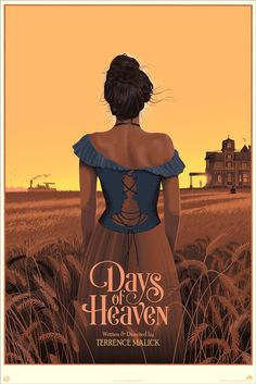 Days of Heaven Movie Poster Variant Mondo by Laurent Durieux Omg Posters, Cinema Posters, Film Posters, Music Posters, Richard Gere, Movie Poster Art, New Poster, Martin Scorsese, Norman Rockwell