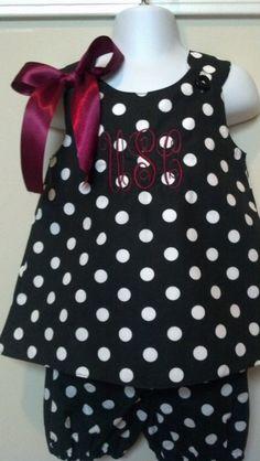 USC Carolina Gamecock Girl Dress Set on Etsy, $35.00