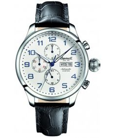 INGERSOLL Automatic APACHE Black Leather Strap(IN3900SL) Ingersoll Watches, Black Leather