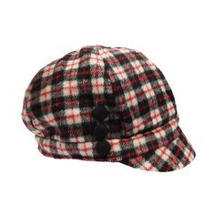 b63cd7608db This Gray   Black Plaid Button-Accent Newsboy Cap is perfect! SetarTrading  Hats