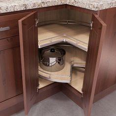 Vauth-Sagel VS Cor Wheel Pro Lazy Susan Vauth -Sagel Recorner Maxx Kidney Lazy Susan This image has get Kitchen Pantry Design, Kitchen Cabinet Storage, Kitchen Redo, Modern Kitchen Design, Home Decor Kitchen, Interior Design Kitchen, Home Kitchens, Kitchen Organization, Kitchen Cabinets