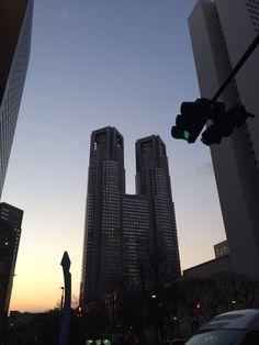 またしても都庁。空が綺麗。