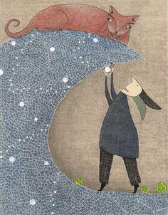 'Wendelins Weihnachten' von Judith  Clay bei artflakes.com als Poster oder Kunstdruck $18.03