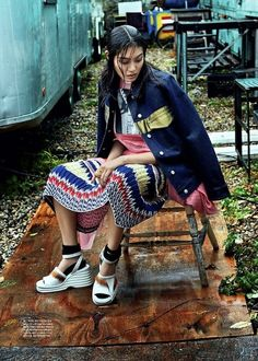 Fresh Mixed Print Inspiration Shot by Michael Schwartz for Dazed And Confused Korea