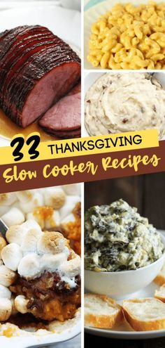 Here are 33 Thanksgiving Slow-Cooker Recipes that will save you time and that taste amazing! Prepare your one dish Thanksgiving dinner with the best slow cooker recipes ever! You can even find some healthy slow cooker recipes! Save this pin for later! Slow Cooker Creamed Corn, Creamed Corn Recipes, Healthy Slow Cooker, Best Slow Cooker, Easy Delicious Recipes, Yummy Food, Easy Recipes, Healthy Recipes, Pressure Cooker Recipes
