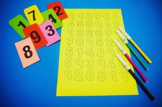 Playing with number. Activities for 3 year old kid.  #Activities #Homeschool #Motessori