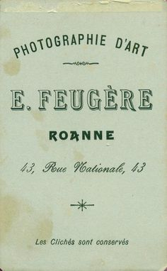 FEUGÈRE - Roanne, Loire