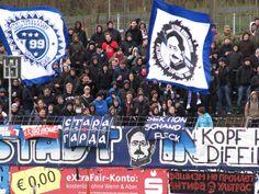 Potsdam, 07.04.2012. Fans des SV Babelsberg 03 vor der 1:4-Heimniederlage gegen Stuttgart II