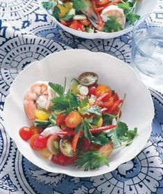 Tangy Shrimp Salad With Summer Vegetables