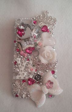 White BLING Diva Samsung iPhone Case Note 2 3 4 by ExpressiveCases