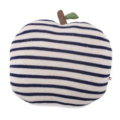 Apple Pillow Striped in Navy