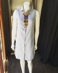 Striped Denim Dress