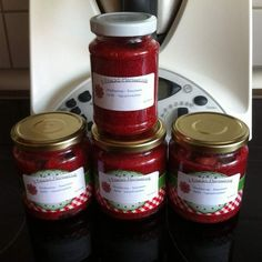 Rezept Hammer-Marmelade (4-Frucht) von Maria.Fu - Rezept der Kategorie Saucen/Dips/Brotaufstriche
