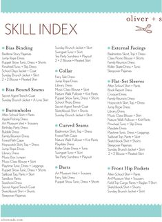 the oliver + s skill index: free download (pick a skill and see which pattern teaches it!)