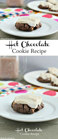 Hot Chocolate Cookie Recipe with Chocolate Marshmallow Frosting