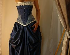 JOSEPHINE  Custom made red and black adjustable Bridal gown