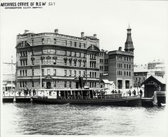The 'Lady Hopetoun' at Circular Quay Sydney City, Sydney Harbour Bridge, The Rocks Sydney, Historical Images, Old Buildings, Sydney Australia, Aerial View, Old Photos
