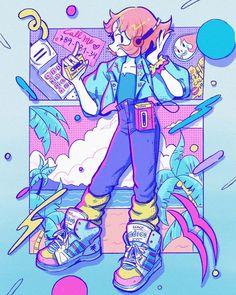 Crisalys is a Chilean artist interested in Illustration art. She describes herself as a Sneaker fan. She often emphasizes sneakers in her drawings. Cute Art Styles, Cartoon Art Styles, Kawaii Drawings, Cute Drawings, Character Art, Character Design, Universe Art, Steven Universe, Kawaii Art