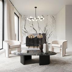 Interior Exterior, Luxury Interior, Interior Architecture, Living Room Interior, Living Room Decor, Piece A Vivre, Contemporary Interior Design, Decoration, Home And Living