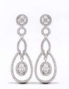 Silver earrings. £105