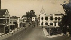 Pemandangan Alun-Alun Contong Surabaya Tahun 1928