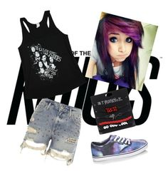 """:))"" by letty666 on Polyvore featuring River Island, Hot Topic and Vans"