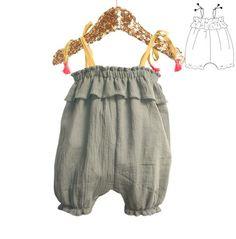Volantis Tank Rompers - Newborn & Baby Sewing Pattern – Ikatee
