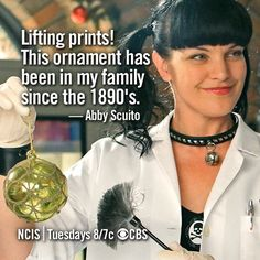 Lifting prints. This ornament has been in my family since the 1890's. -Abby Sciuto