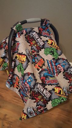 Marvel Avengers Car Seat Cover / Infant Carrier Canopy / Add a Window - Oliver Baby Name - Ideas of Oliver Baby Name - Custom Infant Carrier Cover Baby Boy Shower Gift by BabyBoogerBear Baby Carrier Cover, Best Baby Carrier, Baby Cover, Baby Boy Bedding, Baby Boy Nurseries, Baby Shower Gifts For Boys, Baby Boy Gifts, Marvel Avengers, Baby Avengers