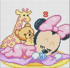 Baby minnie Cross Stitch