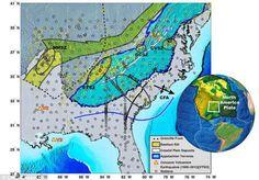 Trozos Gigantes del Manto Terrestre están Rompiéndose Causando Temblores a través Sudeste de USA