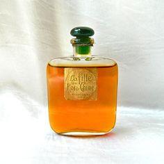 """Super Rare 1923 Perfume """"La Fille du Roi de Chine"""" - Callot Soeurs, Paris - Full - Gorgeous Bottle With Emerald Green Stopper"""