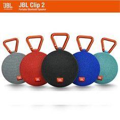 JBL Clip2 Music Box 2 Bluetooth Portable Speaker Audio Outdoor Mini Sonic Speaker IPX7 Waterproof Design Hi-Fi No Noise Talk