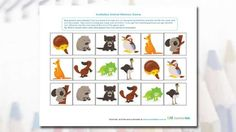 How good is your memory? Have fun matching up the Australian animals with this cute memory game.